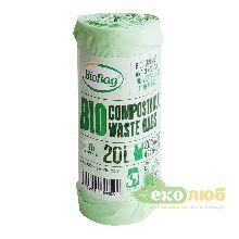 Биоразлагаемые пакеты для мусора Майка 20 литров BioBag