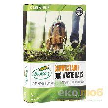 Биоразлагаемые пакеты для уборки экскрементов BioBag