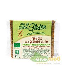 Хлеб органический безглютеновый с семенами льна