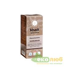 Краска для волос Темно-коричневая Khadi