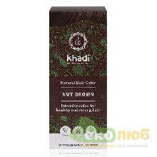 Краска для волос Натуральный каштановый Khadi