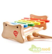 Ксилофон деревянный 5 тонов Мир Деревянных Игрушек