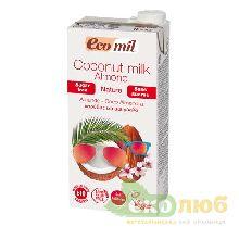 Молоко из кокоса и миндаля без сахара EcoMil
