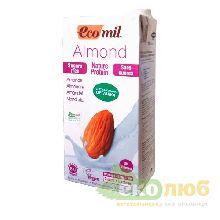 Молоко из миндаля с протеином без сахара EcoMil