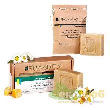 Мыло Травяной отвар с воском (+ шалфей и ромашка) Prakrity (распродажа)
