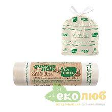 Пакеты для мусора с затяжками 35 литров Go Green Фрекен Бок