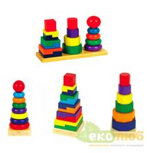 Пирамида Мир Деревянных Игрушек