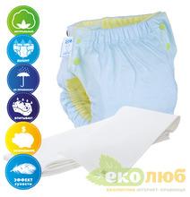 Подгузник трикотажный Easy Size Premium (с вкладышем Abso Maxi) Эко Пупс