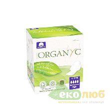 Прокладки для интенсивных выделений с крылышками в индивидуальной упаковке Corman Organyc