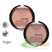 Пудра-крем компактная Compact Make up Sante