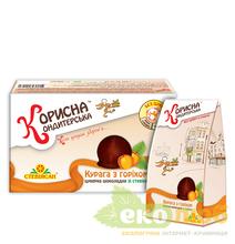 Шоколадные конфеты Курага с орехом Стевиясан
