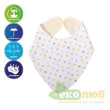 Слюнявчик-бандана непромокаемый Eco Cotton Эко Пупс
