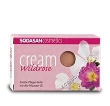 Мыло-крем Wild roses Sodasan